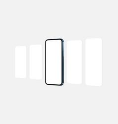 Smartphone blue mockup with blank app screens vector