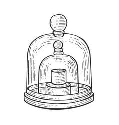 Standard kilogram sketch engraving vector