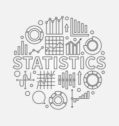 Statistics outline vector