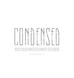 stock condensed sans serif font vector image