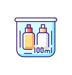 Travel size bottles 100 ml rgb color icon vector