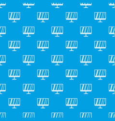 tv pattern seamless blue vector image