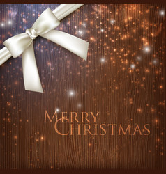 vintage christmas background with sparkles white vector image