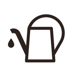 Watering can symbol vector