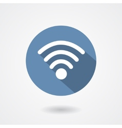 Wi-Fi icon isolated on white background vector image