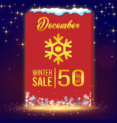 Winter sale december image vector