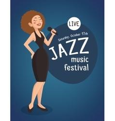 Woman Jazz Singer vector