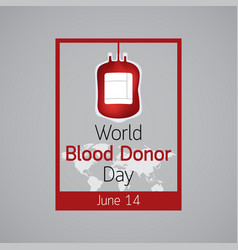 world blood donor day icon vector image