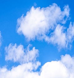 Abstract bright clouds background vector image