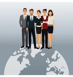 global business people teamwork vector image
