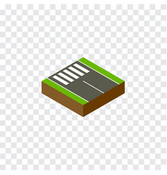 Isolated pedestrian isometric strip vector