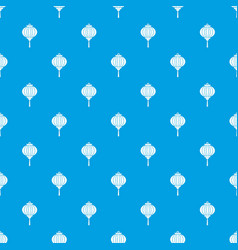red chinese lantern pattern seamless blue vector image
