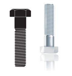 screw bolt vector image