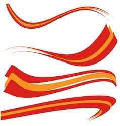 spain flag set on white background vector image vector image