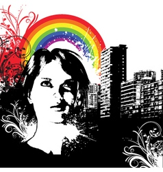 urban grunge female vector image vector image