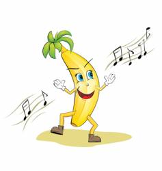dancing banana vector image
