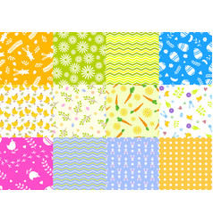easter spring seamless pattern background vector image vector image