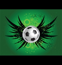 football grunge wings vector image