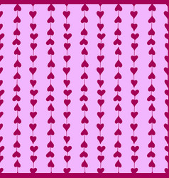 gentle seamless pattern with hand-drawn hearts vector image vector image