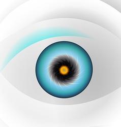 Globe blue eye vector image vector image