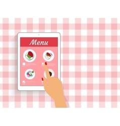 Ordering food in restaurant vector image vector image