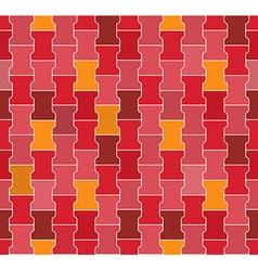 Seamless Red - Pink - Orange Concrete Locking vector image