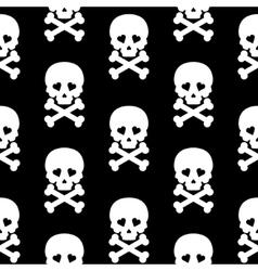 Skull Seamless pattern background white black vector image vector image
