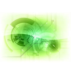 tech background green gloss vector image vector image