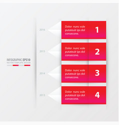 timeline report template pink gradient color vector image vector image