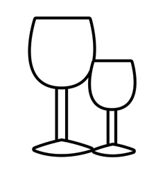 white glasses of wine graphic vector image vector image