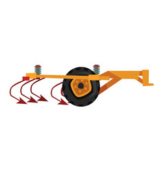 Agricultural ripper machinery agriculture vector