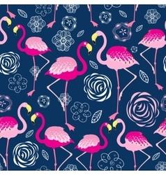 Bright pattern flamingos vector image
