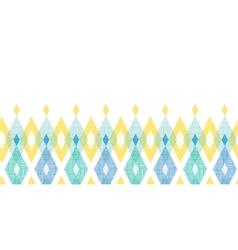 Colorful fabric ikat diamond horizontal seamless vector