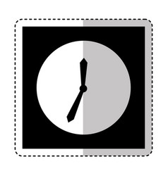 time clock wall icon vector image