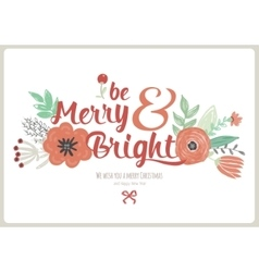 Vintage Merry Christmas And Happy New Year Card vector image vector image