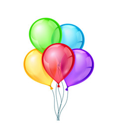 Celebratory balloons on isolated vector image