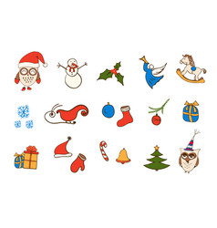 Christmas icons elements for your design vector