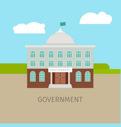 colored urban government building vector image