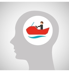 head silhouette water bike extreme sport vector image vector image