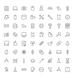 icons line blacks tech industrial science medical vector image