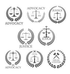 Lawyer office and law firm design templates vector image vector image