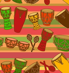 Seamless pattern of percussion vector image