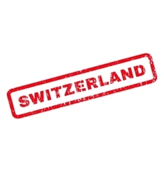 Switzerland Rubber Stamp vector image