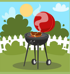 a barbecue party poster design vector image