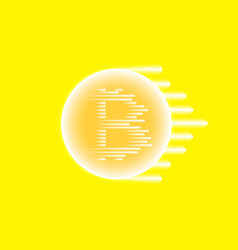 Abstract blue energy ring with bitcoin and speed vector