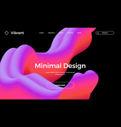 Abstract design template with 3d flow shapes vector