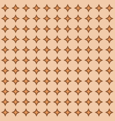 Abstract geometric pattern brown diamonds vector