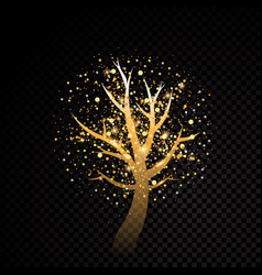 Abstract golden tree sparkle vector