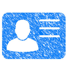 account card grunge icon vector image