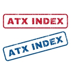 Atx Index Rubber Stamps vector